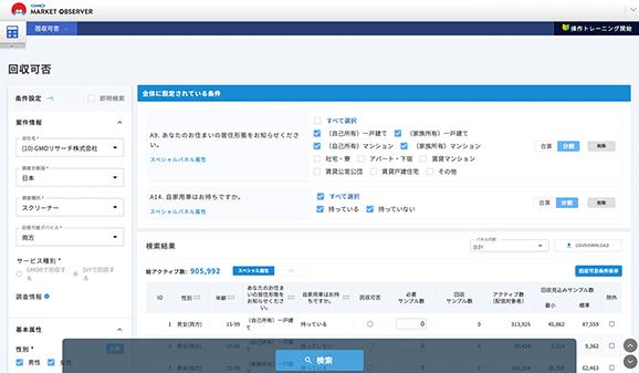 マーケットオブザーバー|高精度の予測機能。適切なアンケート配信と回答依頼をシステムがサポート。